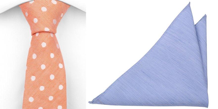 d98f496e6b02 Anschnallen – hier kommen Krawatte und Einstecktuch als farbenstarke  Kombination!