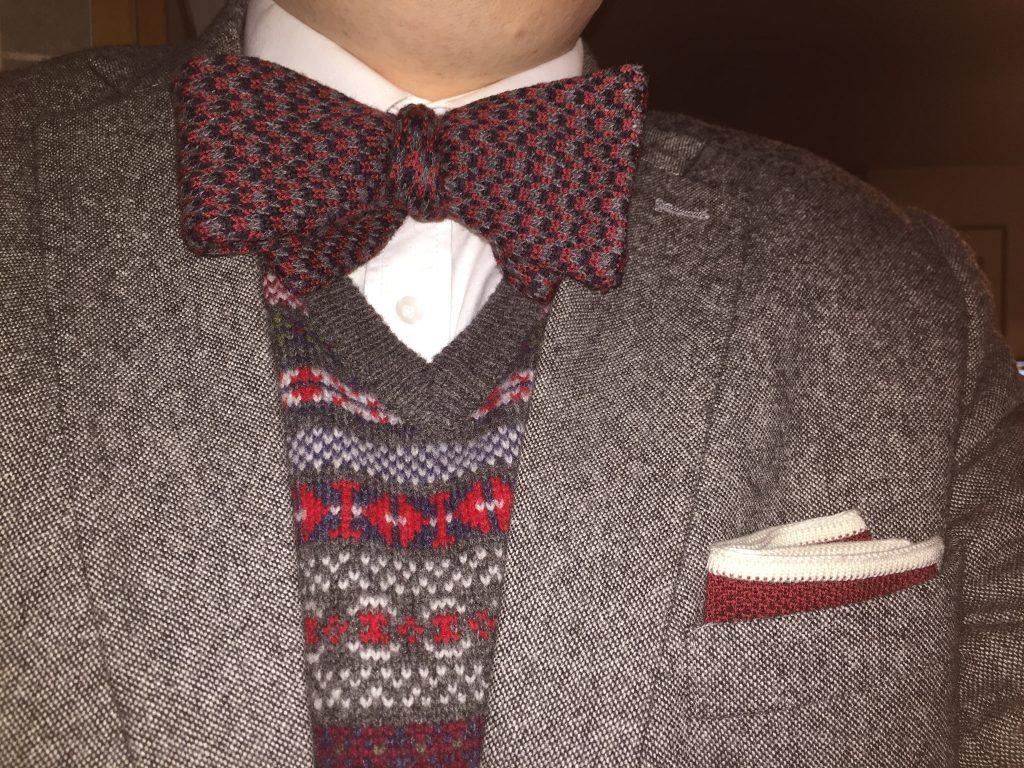 Tweed Sakko mit Fliege CEES